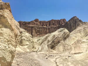 Red Cathedral at Golden Canyon Trail Day Trip Las Vegas Death Valley